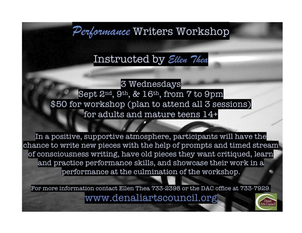 Performance Writers Workshop poster
