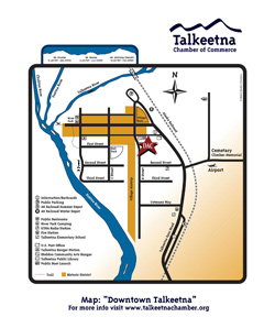 map of Dpwntown Talkeetna Alaska